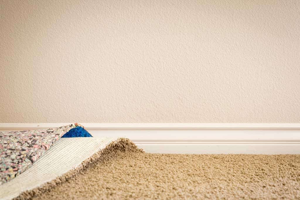Carpet flooring unrolling