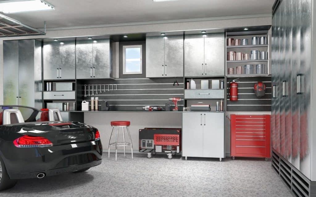 High solid epoxy in a garage