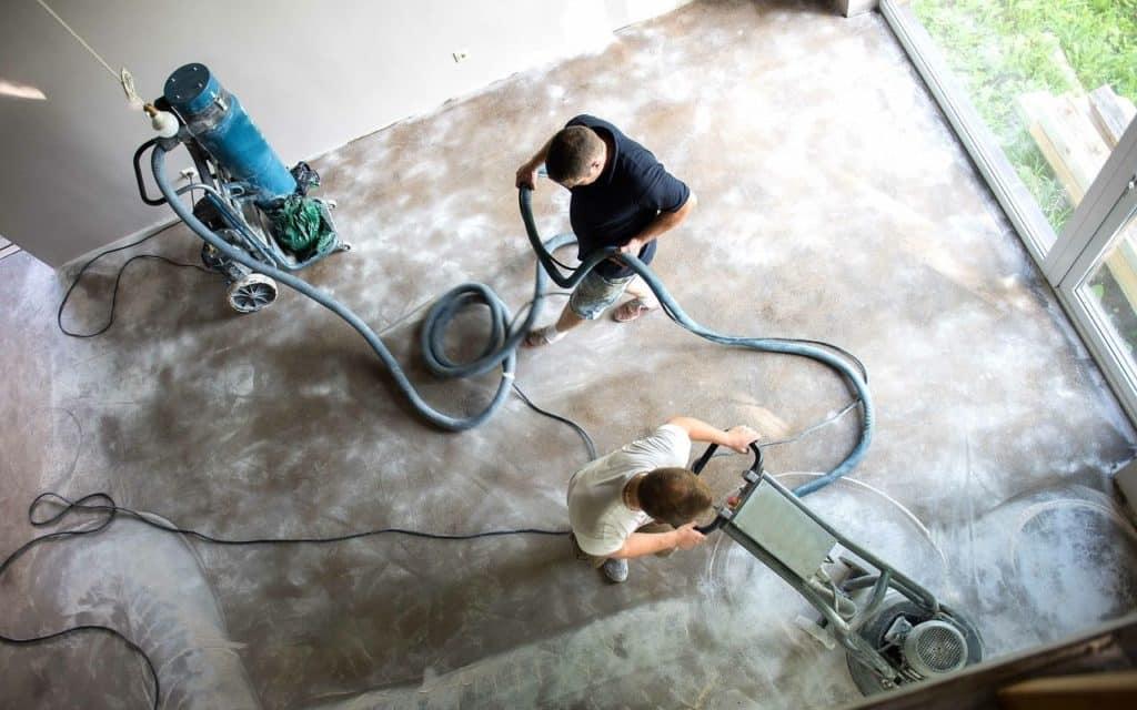 Removing epoxy flooring
